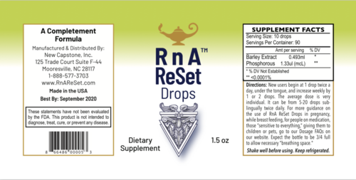 RnA ReSet Drops - Extract from Barley